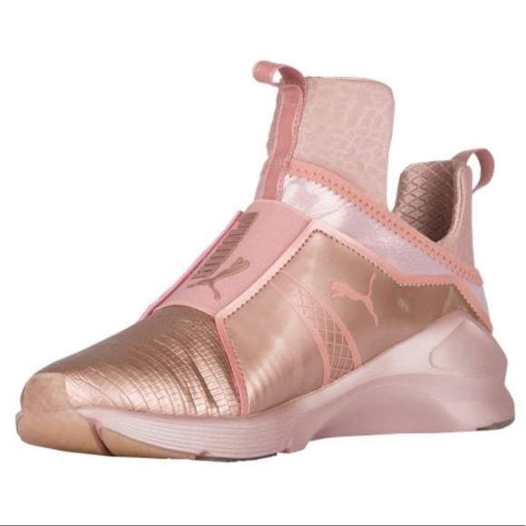34067b796c41 PUMA fierce rose gold metallic sneaker. M 5acd2b3400450f95f206ef92
